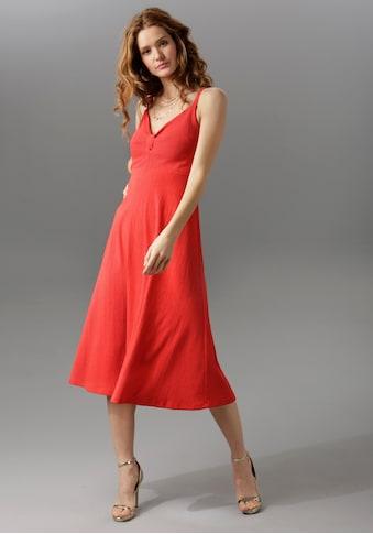 Aniston CASUAL Sommerkleid, mit dekorativem Knoten am Dekolleté kaufen