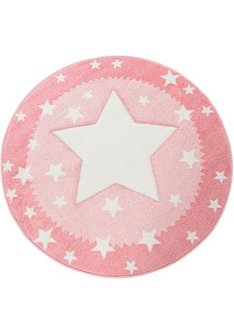 Paco Home Kinderteppich »Ela 398«, rund, 17 mm Höhe, Stern Motiv, mit Bordüre kaufen