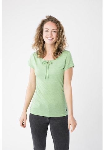 SUPER.NATURAL T-Shirt »W RELAX TEE«, mit Band am Ausschnitt zum Binden kaufen