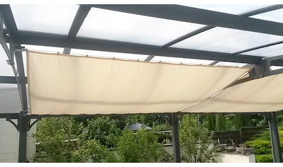 FLORACORD Sonnensegel mit Seilspann - Set, BxL: 420x140 cm, 1 Feld kaufen
