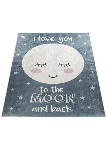 Paco Home Kinderteppich »Aleyna 103«, rechteckig, 6 mm Höhe, Kinder Design, niedliches Mond Motiv mit Print kaufen