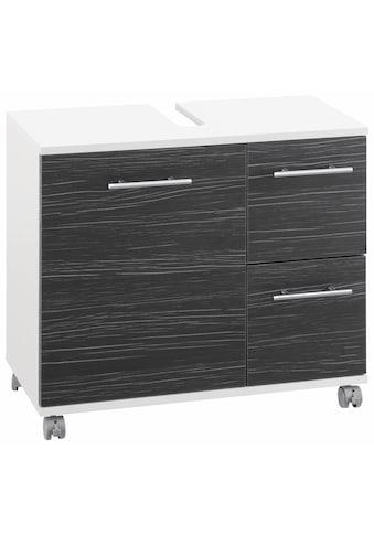 Schildmeyer Waschbeckenunterschrank »Emmi«, Höhe 60 cm, Metallgriffe, auf Rollen kaufen