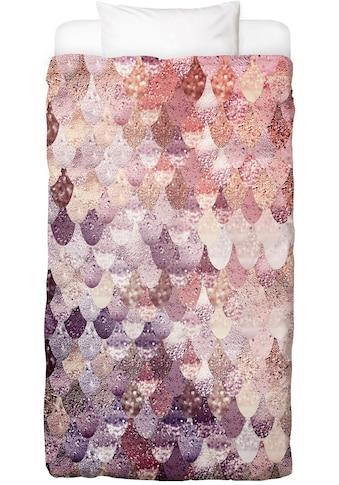 Bettwäsche »Mermaid Rosegoldfarben«, Juniqe kaufen