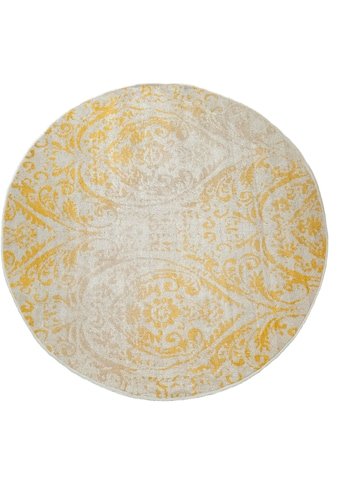 Paco Home Teppich »Artigo 415«, rund, 4 mm Höhe, Vintage Design, In- und Outdoor geeignet, Wohnzimmer kaufen