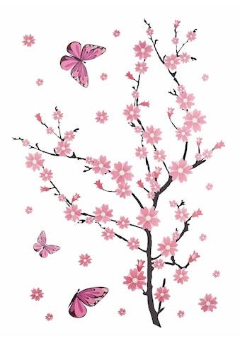 Home affaire Wandtattoo »Kirschblüten mit Schmetterlingen« kaufen
