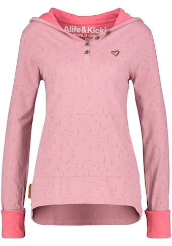 Alife & Kickin Longshirt »LenoraAK«, sportives Longsleeve mit Kapuze, Print &... kaufen