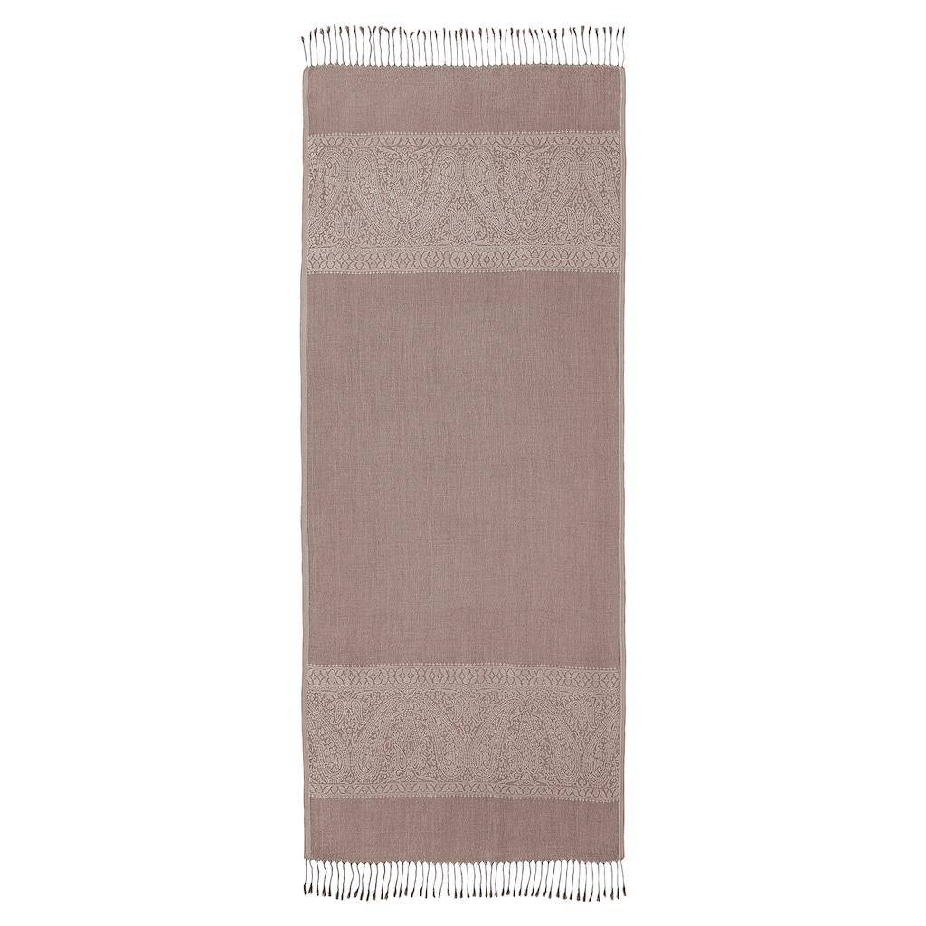 PURSET Schal, Stola mit Ornamentbordüre