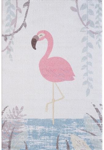 Sanat Kinderteppich »Luna Kids 4610«, rechteckig, 12 mm Höhe, Flamingo Design, Kurzflor kaufen