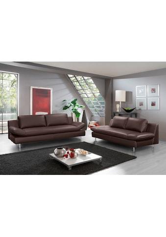 PLACES OF STYLE 3-Sitzer »Redding«, in Naturleder kaufen