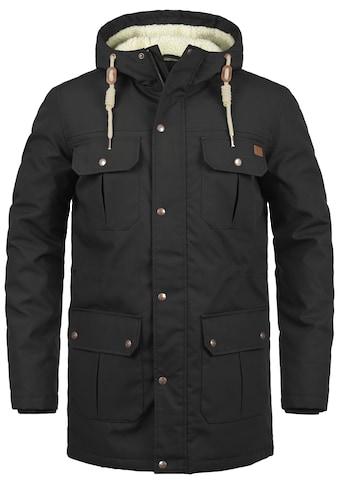 Solid Winterjacke »Chara Teddy«, warme Jacke mit Teddyfutter in der Kapuze und im Oberkörperbereich kaufen