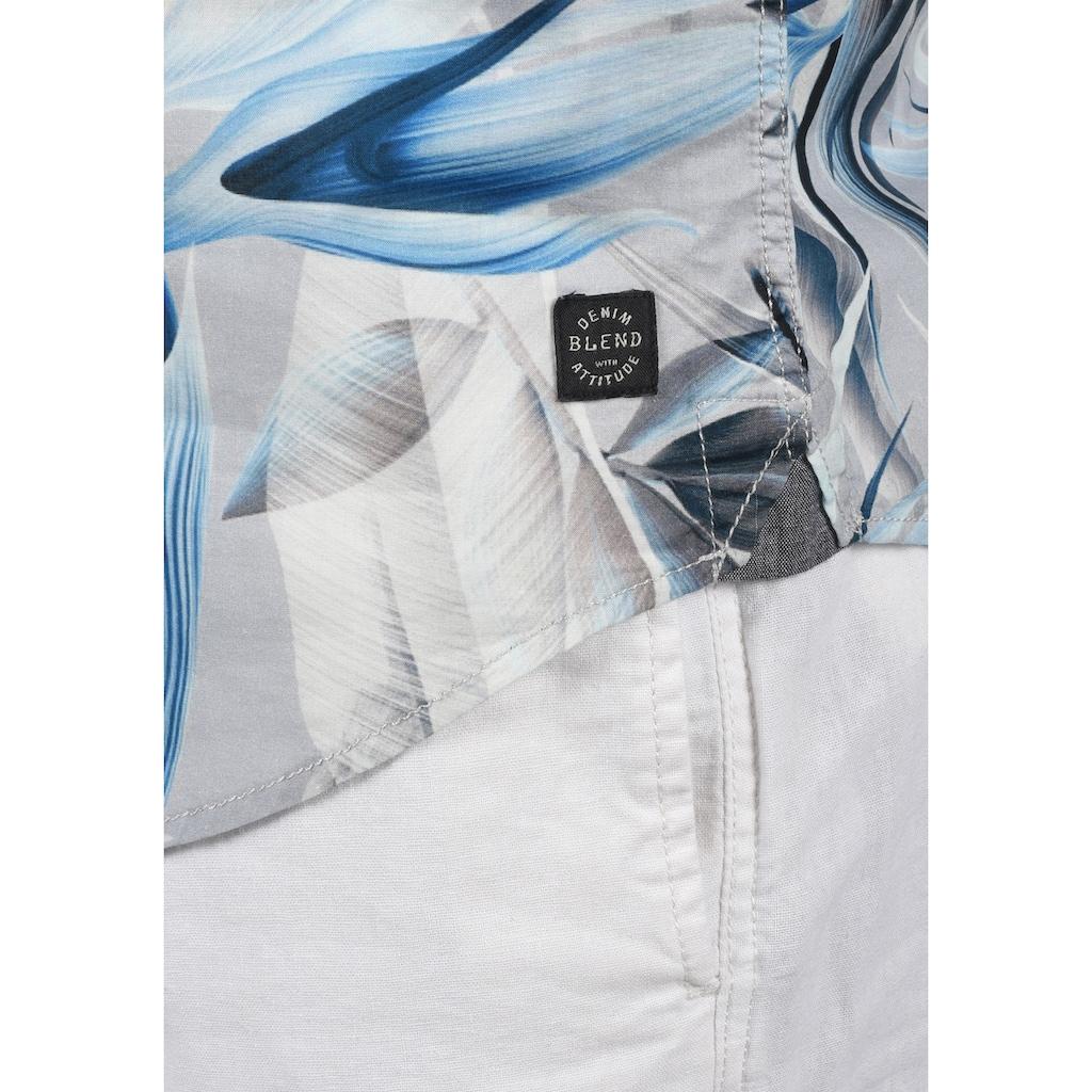 Blend Kurzarmhemd »20710893«, Kurzarm-Hemd mit Knopfleiste