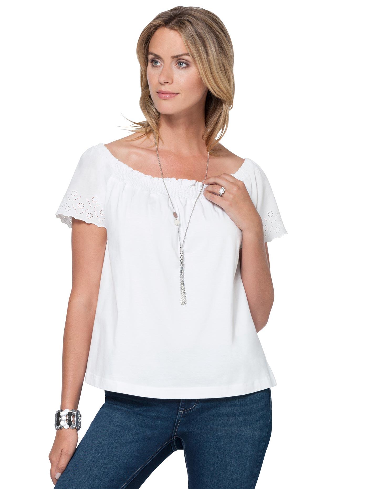 Image of Ambria Shirt mit zarter Madeira-Stickerei