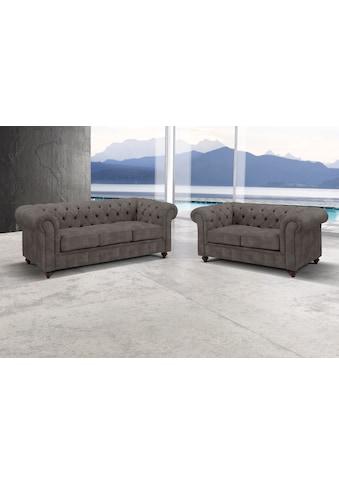 Premium collection by Home affaire Sitzgruppe »Chesterfield«, (2 tlg.), Bestehend aus 2- und 3-Sitzer kaufen