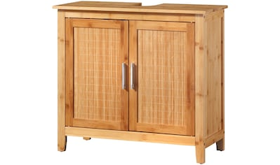WELLTIME Waschbeckenunterschrank »Bambus New«, 67 cm breit acheter
