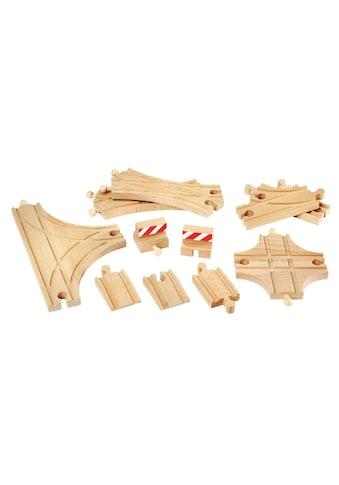 BRIO® Spielzeugeisenbahn-Schiene »BRIO® Ergänzungsset Holzschienensystem, »Brio WORLD Schienen und Weichensortiment« kaufen