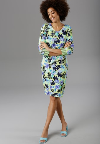 Aniston SELECTED Jerseykleid, mit gestreiften Ärmelabschlüssen kaufen