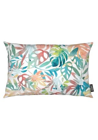 Juniqe Dekokissen »Jungle Leaves Light«, Weiches, allergikerfreundliches Material kaufen