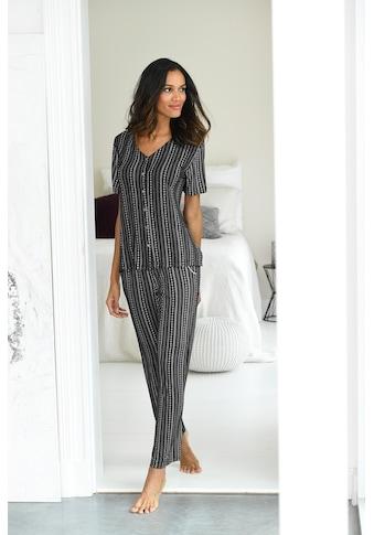 LASCANA Pyjama, mit Grafikprint kaufen