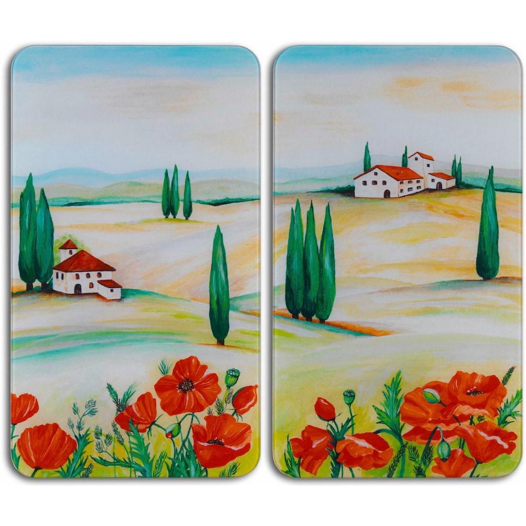 WENKO Herd-Abdeckplatte »Toscana«, aus gehärtetem Glas von WENKO