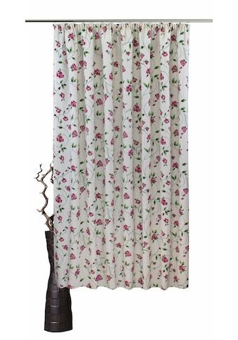 VHG Vorhang »Miri«, Leinenoptik, Rose, Streifen kaufen