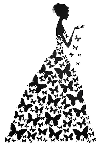 Home affaire Wandtattoo »Schmetterlingsfrau« kaufen