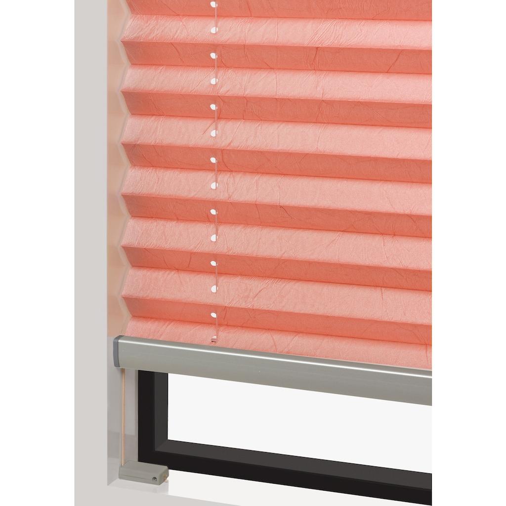 Good Life Plissee nach Mass »Rena«, Lichtschutz, Perlreflex-beschichtet, mit Bohren, verspannt, bronzefarbene Profilschiene