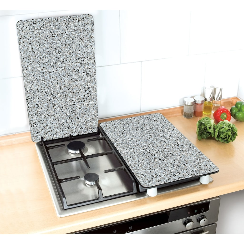 WENKO Herd-Abdeckplatte »Universal Granit«