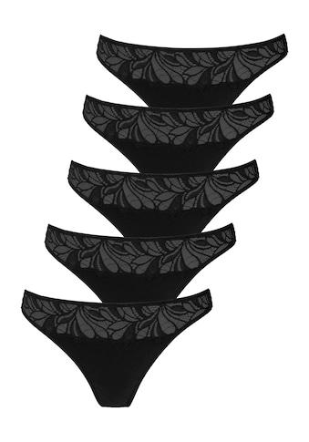 Vivance String, (5 St.), mit floraler Spitze vorn kaufen