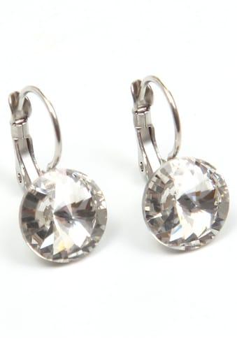 J.Jayz Paar Ohrhänger »zeitlos, chic, rund, bunt«, mit Glasstein - Made in Germany kaufen