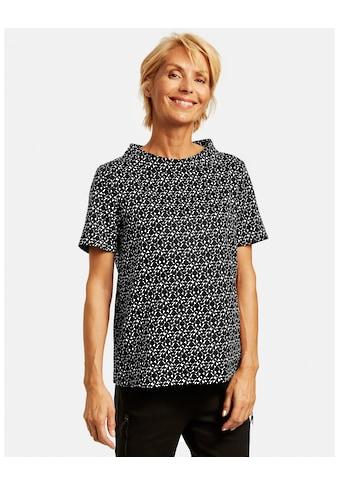 GERRY WEBER Schlupfbluse »Blusenshirt mit Kontrastmuster« kaufen