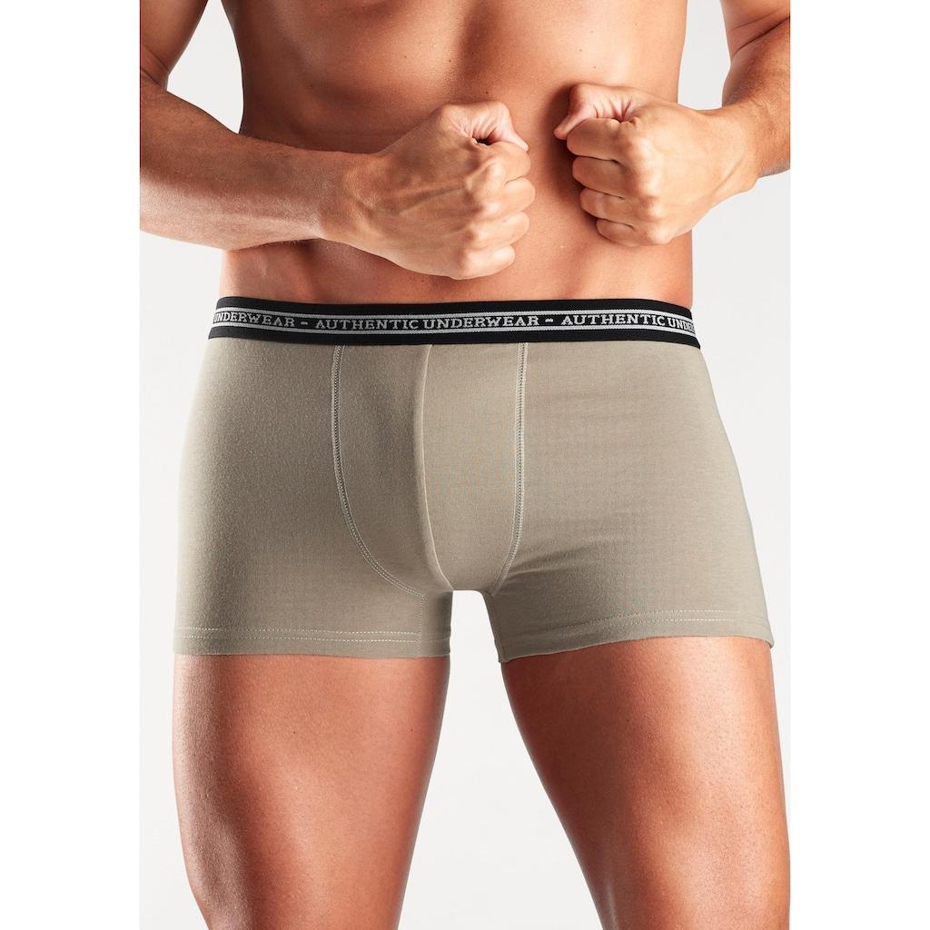 AUTHENTIC UNDERWEAR Boxer, schwarzer Webbund mit Logoschriftzug