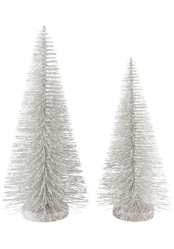 Home affaire Dekobaum, mit Glitter, Höhe ca. 26 cm und 35 cm kaufen
