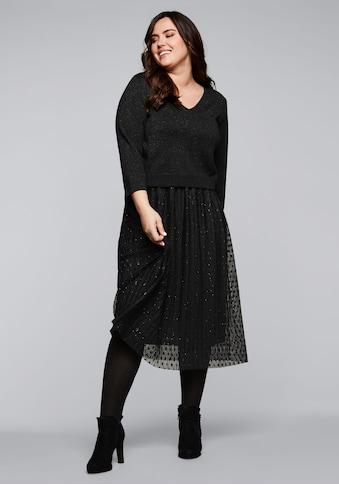Sheego Abendkleid, mit Pullover in 2-in-1-Optik kaufen