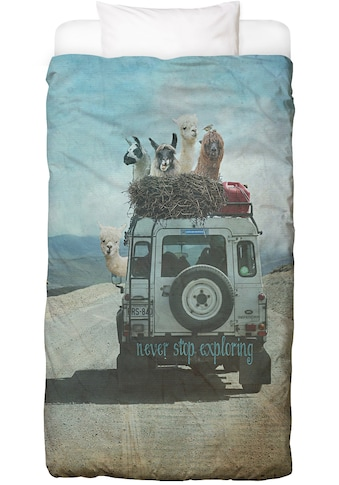 Bettwäsche »Never Stop Exploring II«, Juniqe acheter
