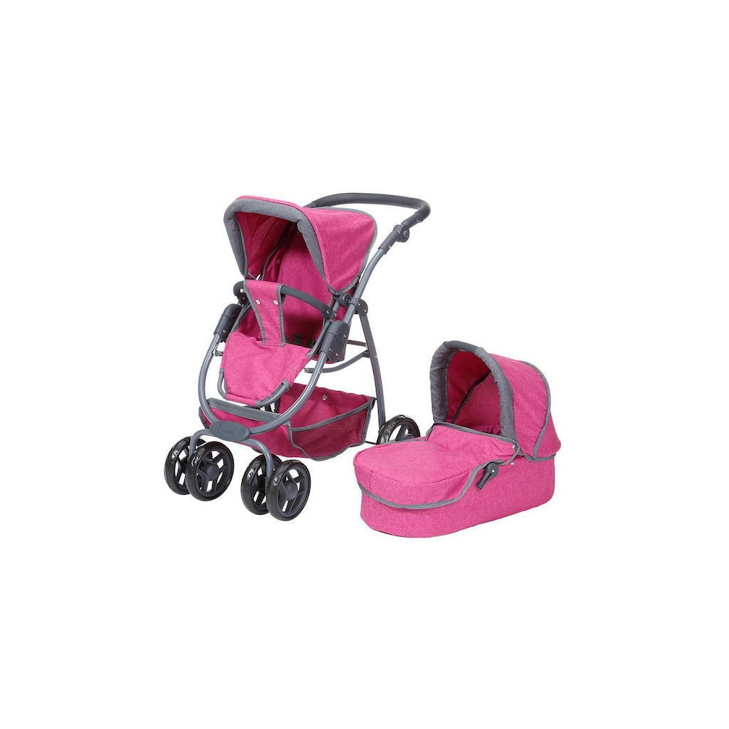 Knorrtoys® Kombi-Puppenwagen »Coco Pink«