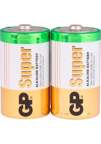 GP Batteries Batterie »Super Alkaline D«, LR20, 1,5 V, (Set, 2 St.) kaufen