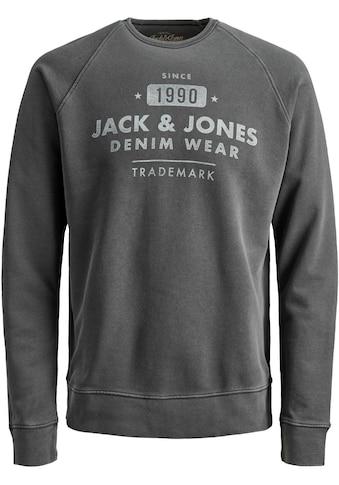 Jack & Jones Sweatshirt »JEANS WASHED SWEAT CREW« kaufen