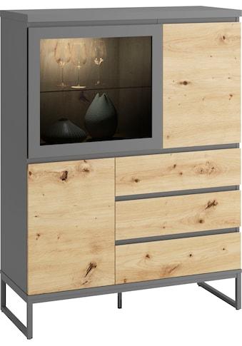 HMW Collection Highboard »Enna«, Höhe 132 cm, mit Glastür kaufen