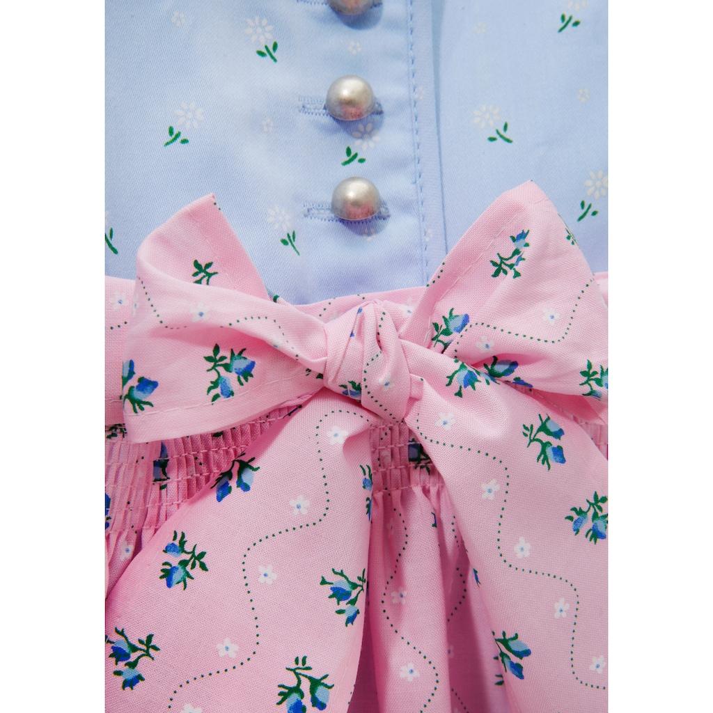 Turi Landhaus Dirndl, (3 tlg.), für Baby mit süssem Blumenprint