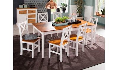 Home affaire Essgruppe »Marta«, (Set, 7 tlg.), mit grossem Tisch kaufen