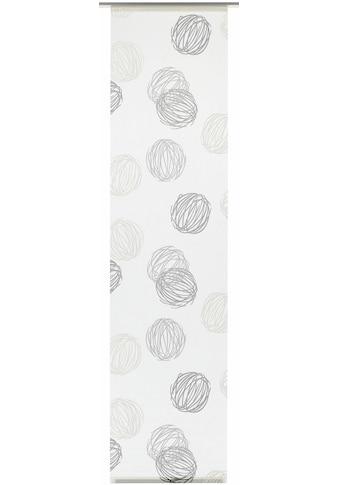 GARDINIA Schiebegardine »Flächenvorhang Stoff Knäuel mit silberfarbennen Paneelwagen«,... kaufen