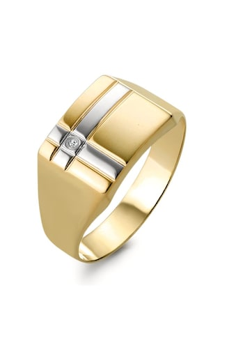 Herrenring Goldfarben 375 Diamant kaufen