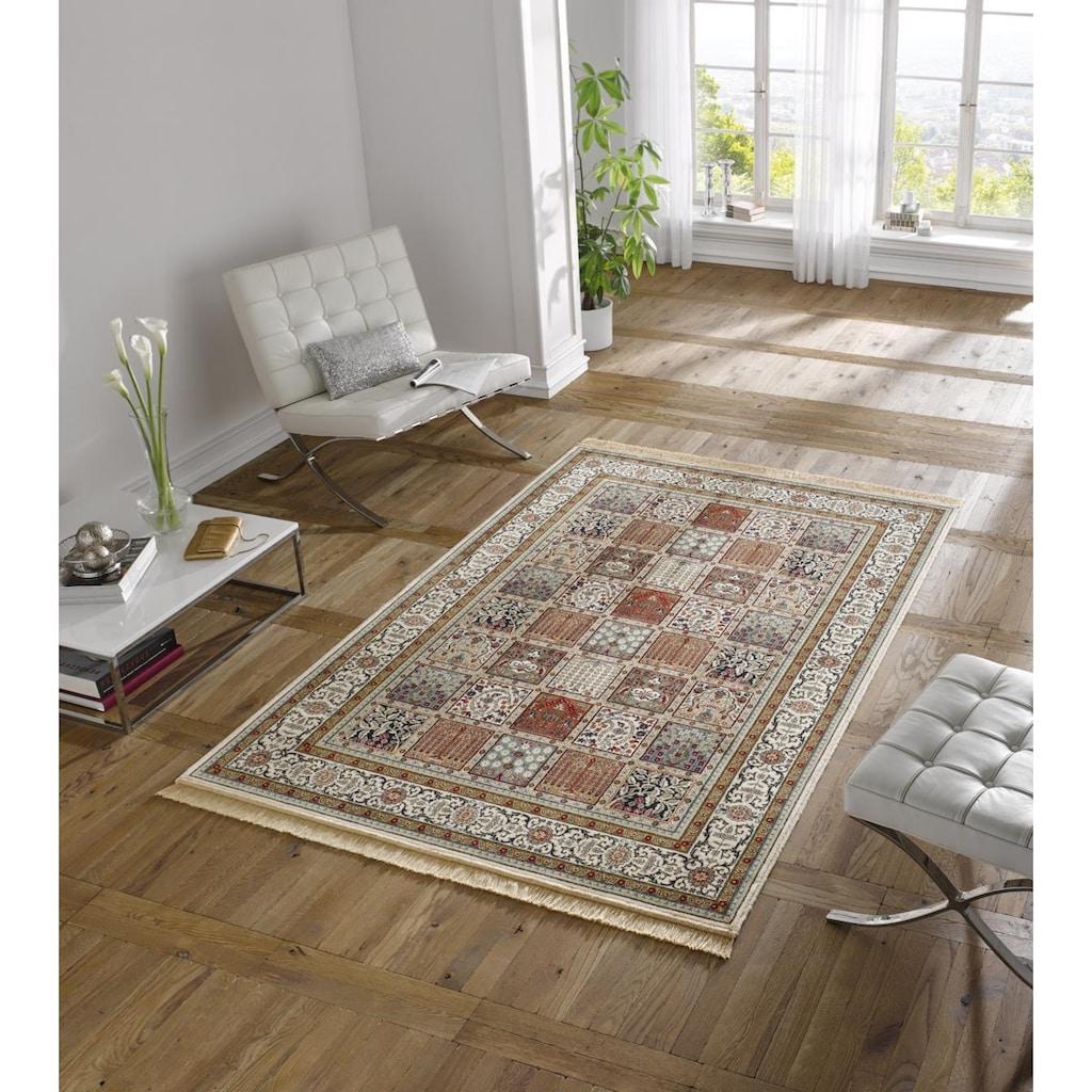MINT RUGS Teppich »Precious«, rechteckig, 9 mm Höhe, weiche Viskose mit Fransen, Orient-Optik, Wohnzimmer