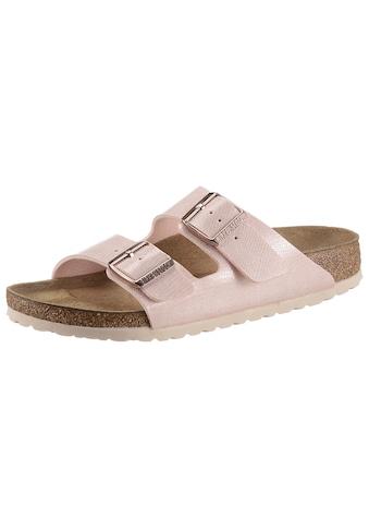 Birkenstock Pantolette »Arizona magical«, mit Veloursleder-Innensohle, schmale Schuhweite kaufen