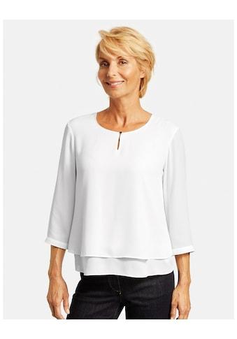 GERRY WEBER Schlupfbluse »3/4 Arm Bluse mit Überwurfeffekt« kaufen