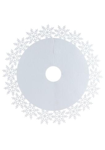 Home affaire Baumteppich »Schneeflocke«, rund, 4 mm Höhe, Christbaumdecke Ø 100 cm kaufen