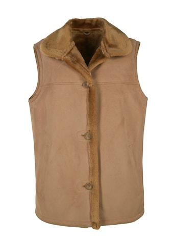 JCC Fellimitatweste »Linda«, Weste mit flauschigem Hemdkragen kaufen