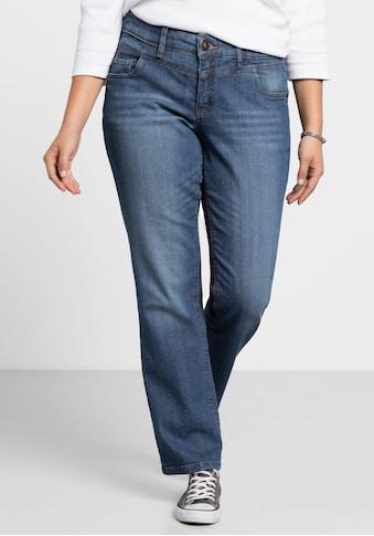 Sheego Stretch-Jeans, LANA mit Used-Effekten kaufen