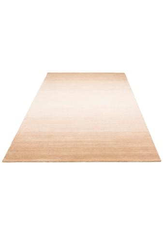 Wollteppich, »Violetta«, Home affaire, rechteckig, Höhe 14 mm, handgewebt kaufen