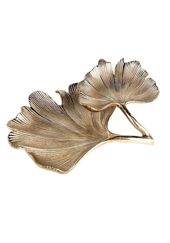 GILDE Dekoschale »Schale Ginkgo, antik goldfarben«, Doppelschale, Breite 33 cm, aus... kaufen